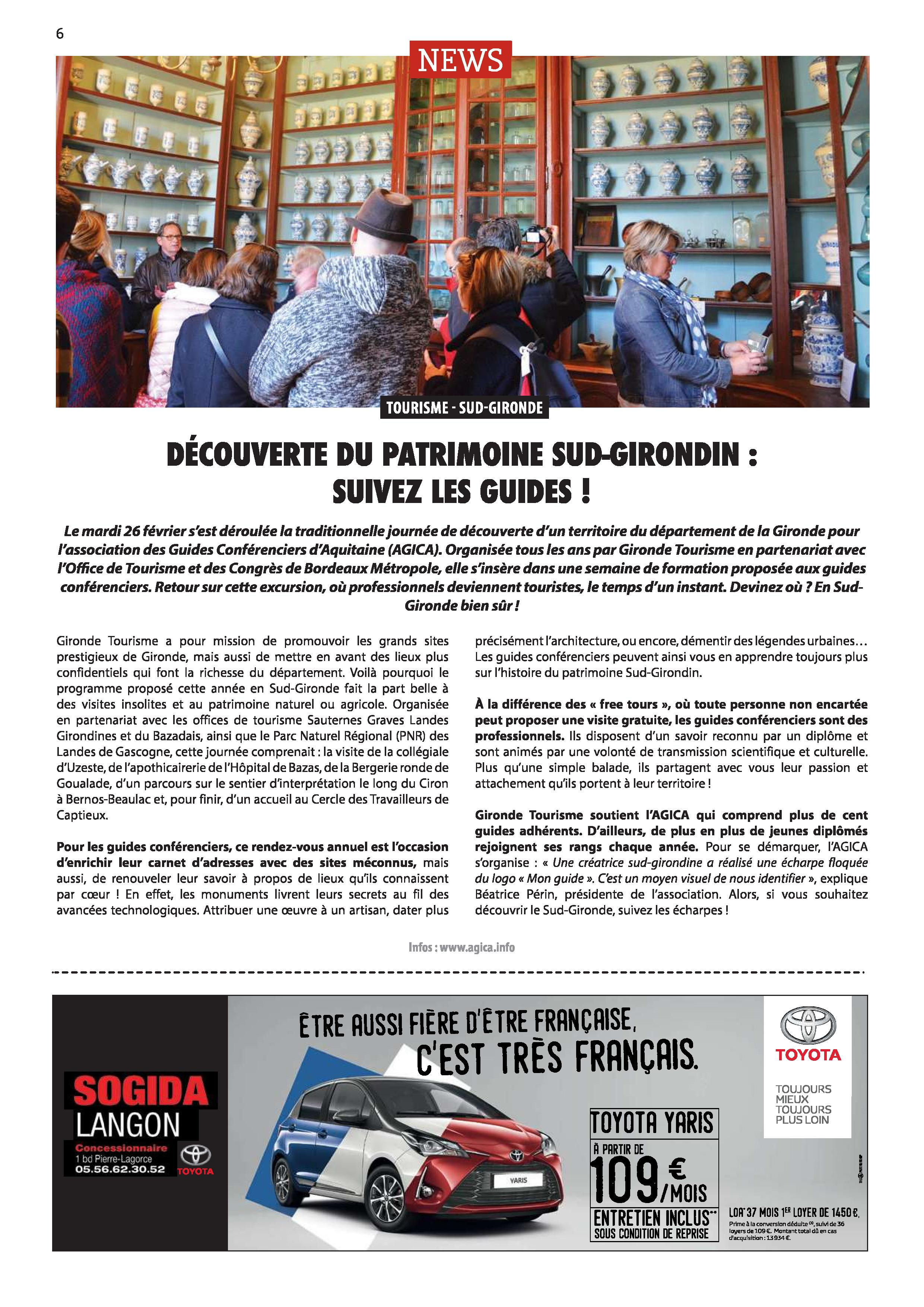 2019 04 Article AGICA Sud Girondin p6 avril 2019 page 001